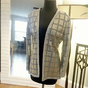 Vintage 70s silver sequin jacket by Junior Accent